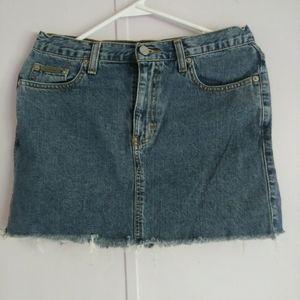 Calvin Klein mini jean skirt